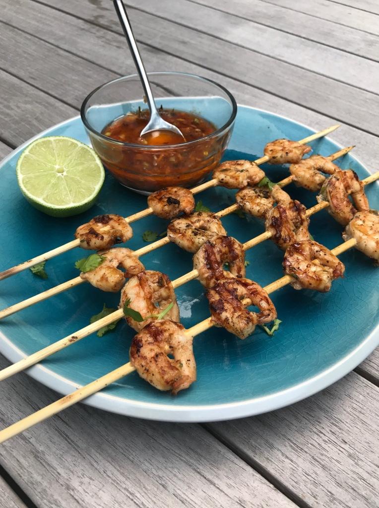 Grilled Jerk Shrimp Skewers | Sweet & Sorrel