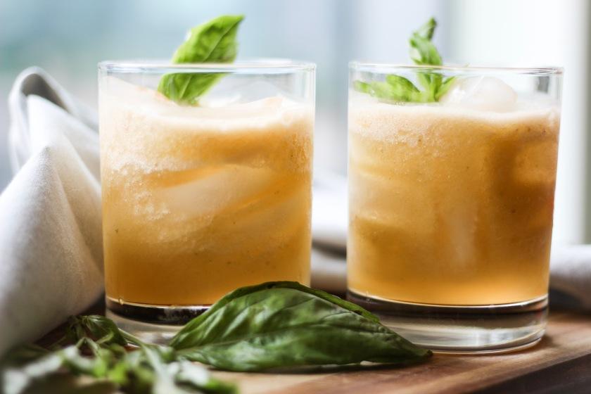 Basil Cantaloupe Lemonade | Sweet & Sorrel