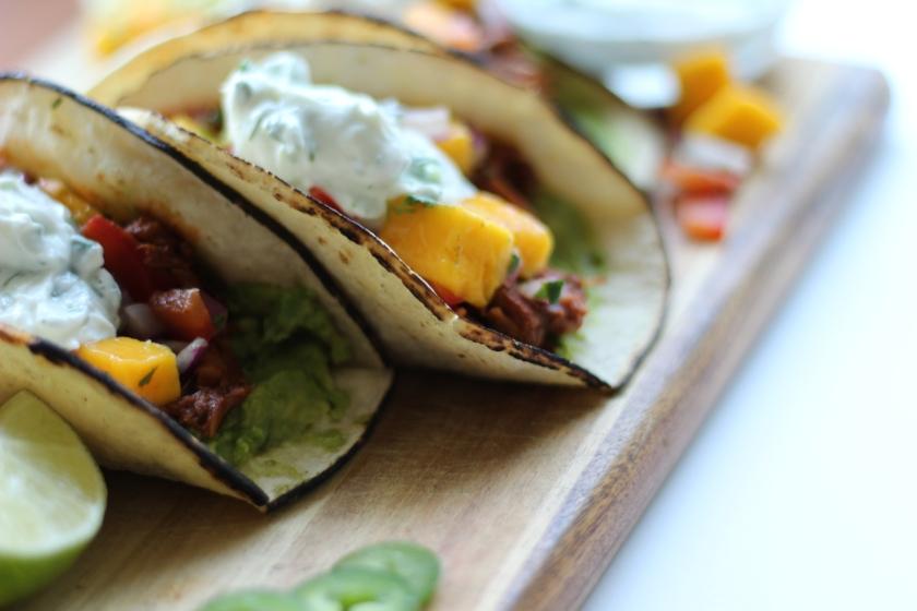 Jackfruit Al Pastor Tacos | Sweet & Sorrel
