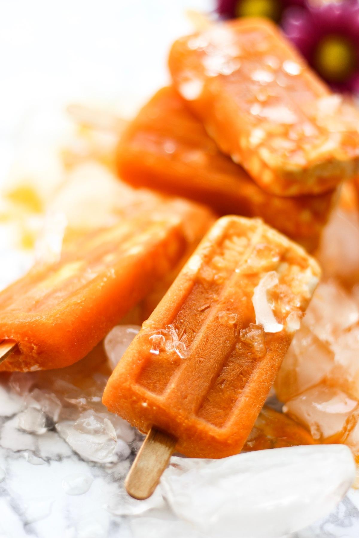 Carrot Yogurt Popsicles | Sweet & Sorrel