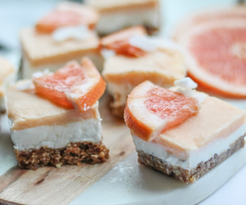 Grapefruit Coconut Bars | Sweet & Sorrel