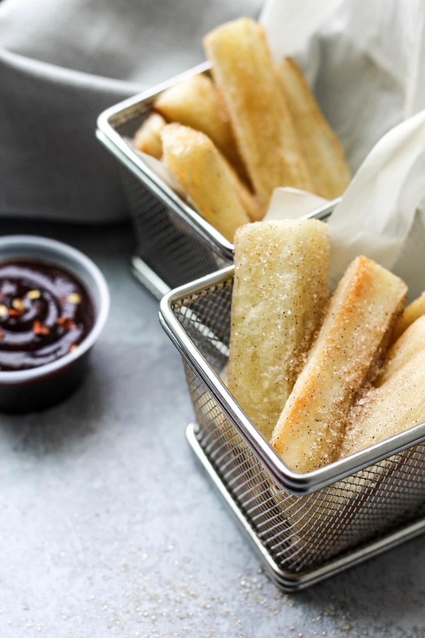 Baked Cinnamon Sugar Yucca | Sweet & Sorrel